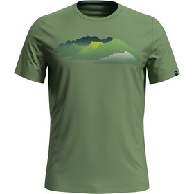 Odlo Nikko Print T-shirt Herrer, green eyes/mountain